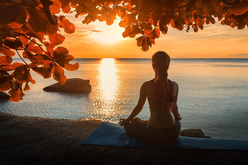 Yoga in der Abendsonne